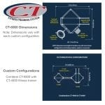 CT-6000 Fitness Trainer Dimensions and Design