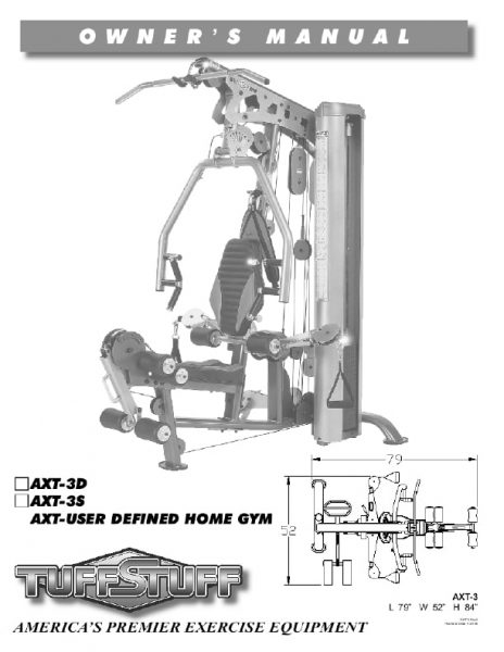 TuffStuff Fitness AXT 3 Home Gym Owners Manual