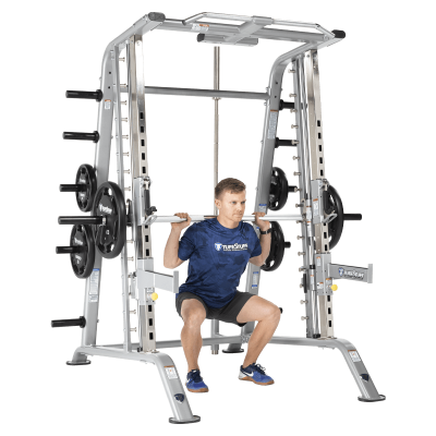 TuffStuff Fitness CSM-600 Smith Machine and Half Rack