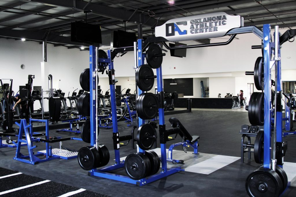 Oklahoma Athletic Center (OAC) custom TuffStuff Half Rack